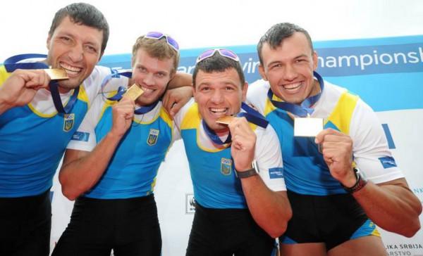 Украинская парная четверка по академической гребле завоевала золото на ЧМ с мировым рекордом