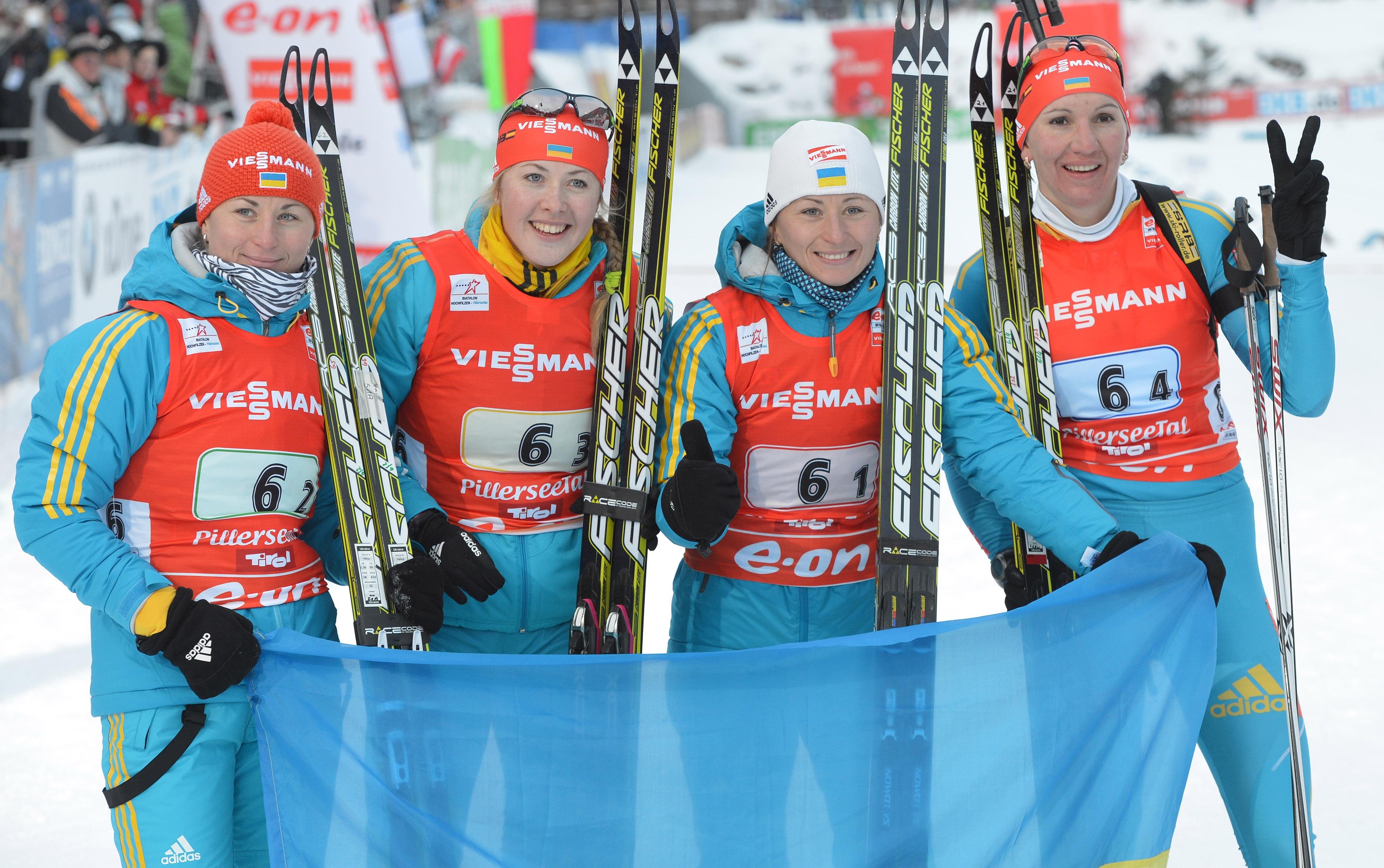 Женская сборная Украины по биатлону  выиграла серебро на чемпионате мира
