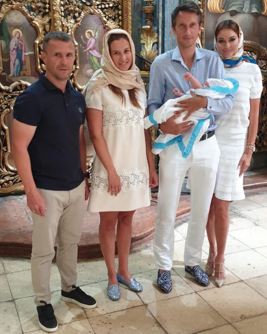Сергей Ребров покрестил сына Сергея Стаховского