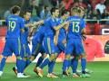 Сборная Украины уверенно обыграла Албанию