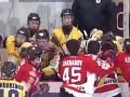 Матч лидеров чемпионата Украины по хоккею отметился массовой дракой