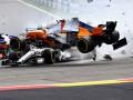 Гран-при Бельгии стартовало с крупной аварии