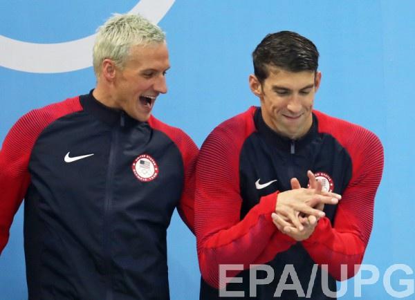 Райан Лохте и Майкл Фелпс на Олимпиаде в Рио