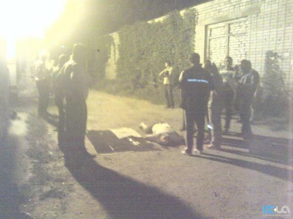 Фотография с места убийства Надирадзе
