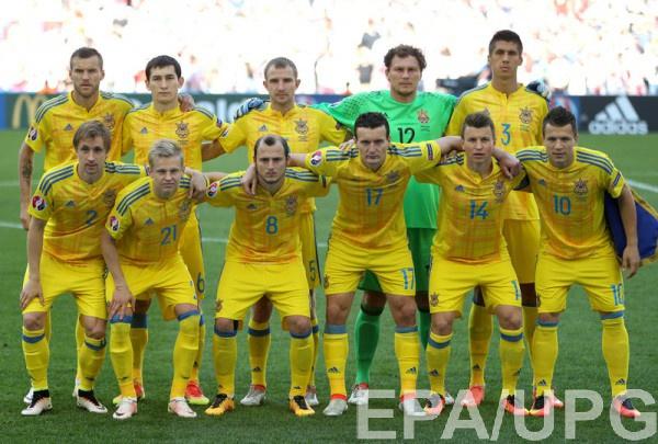Сборная Украины перед матчем с Польшей