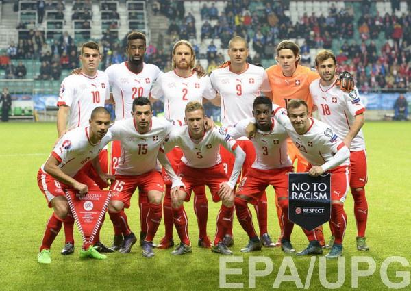 Сборная Швейцарии - участник Евро-2016