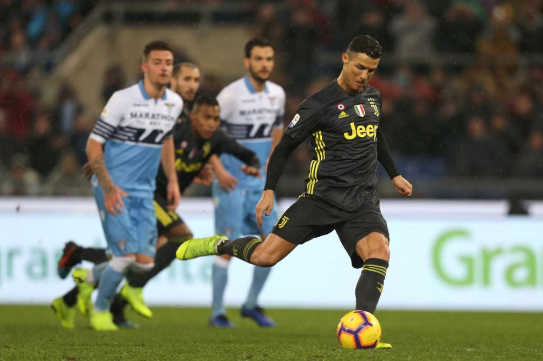 Криштиану Роналду в матче против Лацио