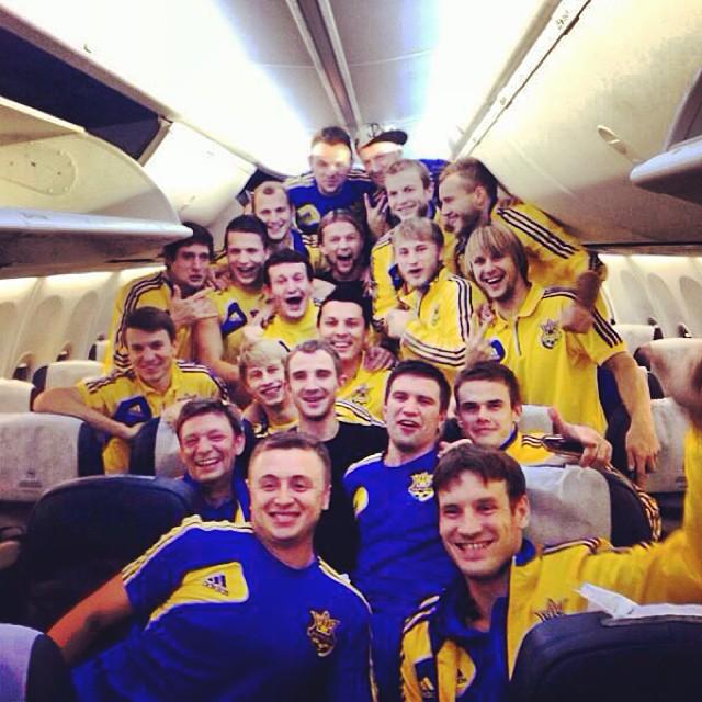 Сборная Украины вернулась в Украину