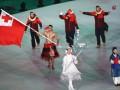Спортсмен из Тонги полуголым вынес флаг своей страны на открытии ОИ-2018