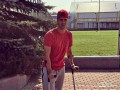 Защитник Динамо после матча с Волынью передвигается на костылях