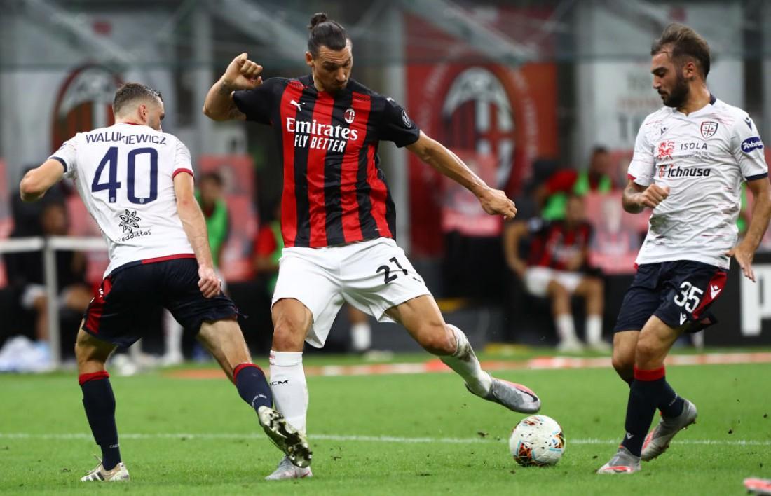 Милан - Кальяри: видео голов