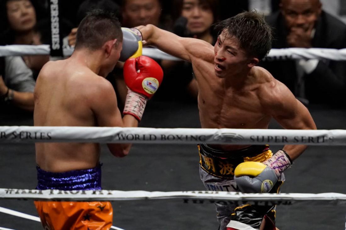 Наоя Иноуэ в бою против Нонито Донэйра
