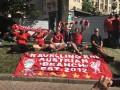 Футбольный праздник в Киеве: красно-белые фанаты и их атмосфера