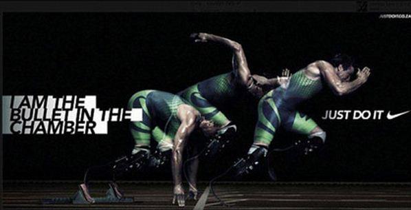 Реклама на сайте Писториуса от Nike