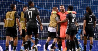 Лион показал, как радовались игроки выходу в полуфинал Лиги чемпионов