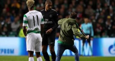 Фанат Селтика попытался ударить Мбаппе во время матча