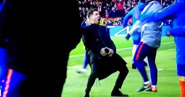 Симеоне неприличным жестом отпраздновал гол Атлетико в ворота Ювентуса