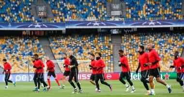 Динамо – Бенфика: Как португальцы испытали газон НСК Олимпийский