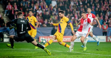 Славия Прага - Барселона 1:2 видео голов и обзор матча ЛЧ