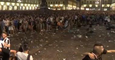 Видео давки в фан-зоне в Турине