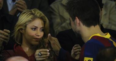 Шакира не сдерживала эмоций, болея за Барселону с трибун стадиона