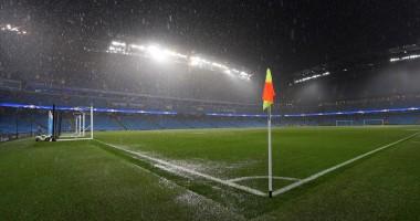 Видео сильного ливня, из-за которого не состоялся матч Ман Сити в ЛЧ