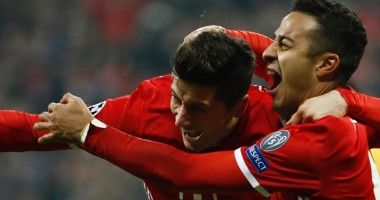 Бавария - Арсенал 5:1 Видео голов и обзор матча Лиги чемпионов