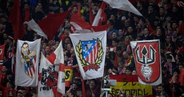 Болельщики Атлетико устроили огненное шоу возле стадиона команды