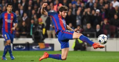 Барселона – ПСЖ: гол Серхио Роберто, который вывел каталонцев в 1/4 финала