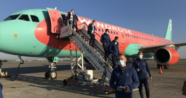 Динамо прибыло в Бельгию на матч Лиги чемпионов