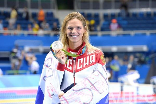 Юлия Ефимова c серебряной медалью в Рио