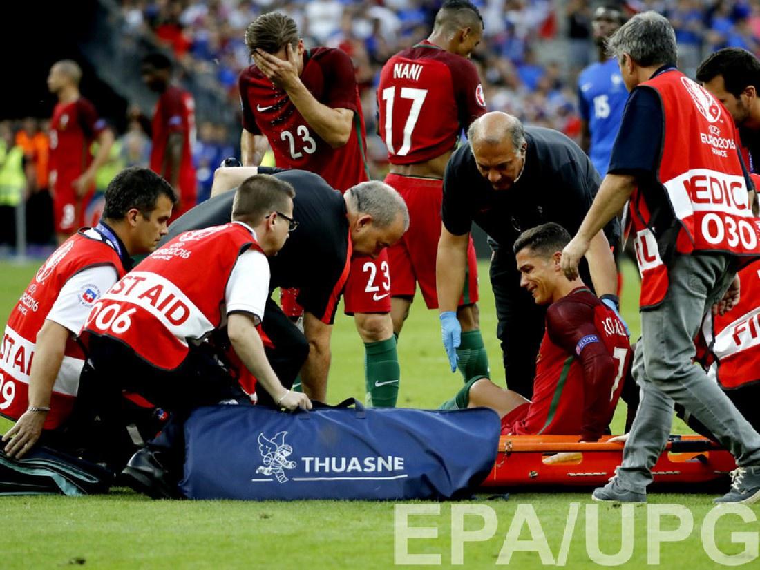 Криштиану Роналду досрочно покинул поле в финале Евро-2016