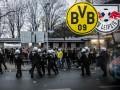 Фанаты Боруссии и Лейпцига устроили массовую потасовку после матча