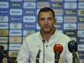 Шевченко: Наша задача - выиграть матч с Литвой