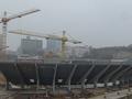 На НСК Олимпийский начинается монтаж навеса над трибунами