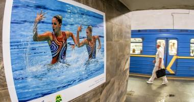 Олимпиец в каждом: В киевском метро открылась фотовыставка, посвященная Рио-2016