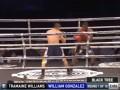 Видео тяжелейшего нокаута на 93-й секунде первого раунда в бою Уильямс - Гонсалес