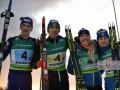 Сборная Украины выиграла золото в смешанной эстафете на чемпионате Европы