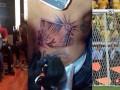 Игрок сборной Чили сделал тату своего выстрела в перекладину