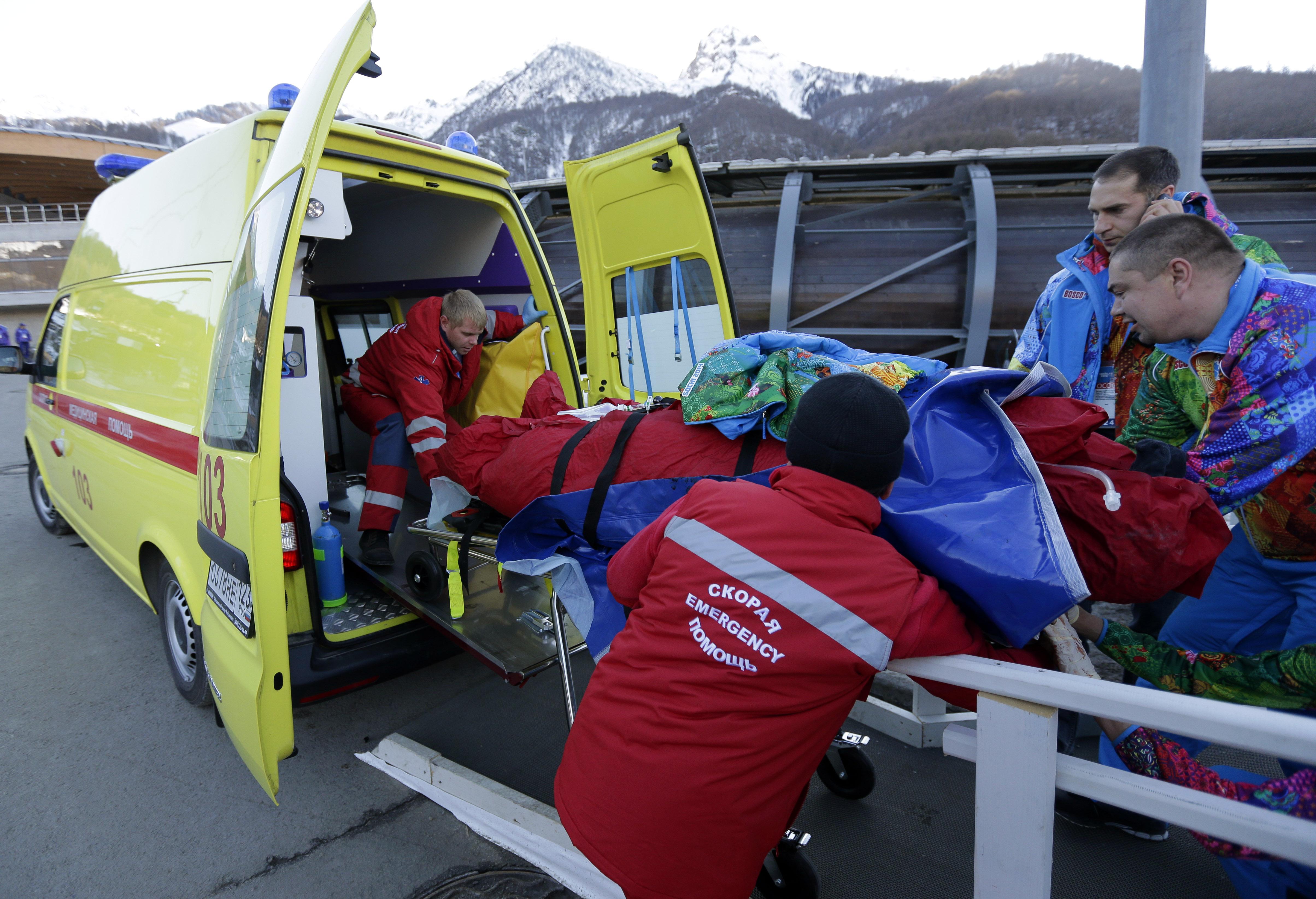 На санно-бобслейной трессе Санки в Сочи произошел несчастный случай