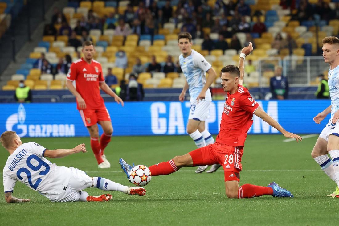 Динамо и Бенфика сыграли вничью