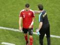 Красная карточка Драговича в матче с Венгрией на Евро-2016