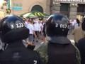 Видео польских фанатов в центре Киева