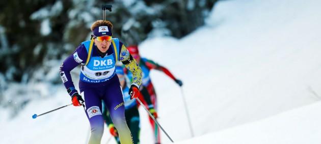 Биатлон: Италия выиграла эстафету, украинки из-за промахов финишировали на 8-м месте