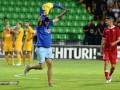 Выбежавший на поле болельщик с флагом Украины остановил матч Лиги Европы