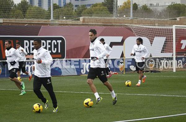 Валенсия готовится к матчу чемпионата