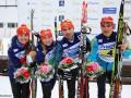 Биатлон: Сборная Украины побеждает в смешанной эстафете на Кубке IBU