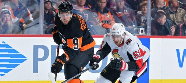 НХЛ: Филадельфия с трудом обыграла Оттаву, Баффало в овертайме уступил Ванкуверу