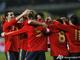 Испания празднует гол Торреса