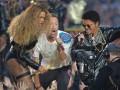 Видео шоу Бейонсе, Бруно Марса и Coldplay в перерыве Супербоула